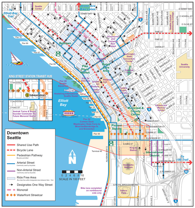 Seattle Map Downtown